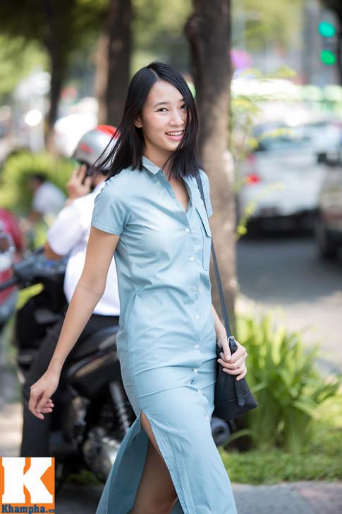 Trang Khieu day suc song tren duong pho Sai Gon