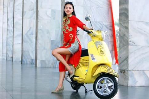 Thoi trang Vespa tai Dep Fashion Show 2008