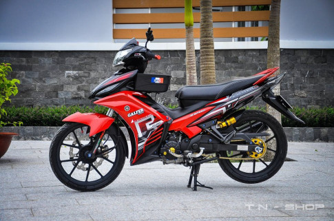Yamaha Exciter red and black chat choi cua biker mien Tay
