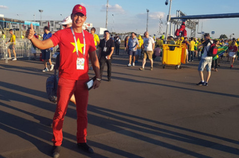 Sang tan Nga de xem World Cup, Binh Minh 'mong Brazil gianh vo dich' xong di ve