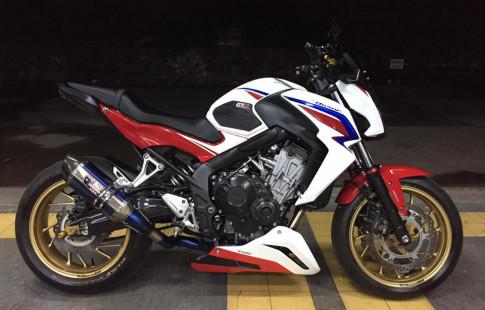 Honda CB650F chat choi trong phien ban HRC