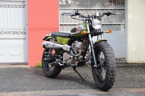 Honda Custom LA250 độ phong cách scrambler của thợ Việt