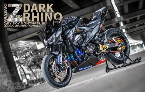 Kawasaki Z800 do day dinh cao voi phien ban Dark Rhino