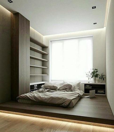 Phòng ngủ nổi bật cho nhà phố hẹp nhờ biến tấu cổ điển và cây xanh