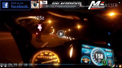 [Clip] Exciter 135 max speed 220km/h voi tay nai 135kg!