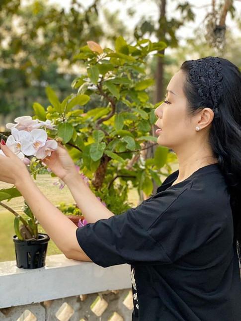 Mat tay nhu Trinh Kim Chi, trong cay trong chau van cho qua luc liu