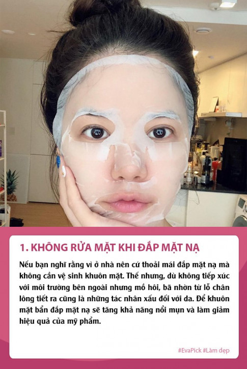 Nghi dich dap mat na thuong xuyen da van sam, ban co chac minh khong mac phai 5 loi nay