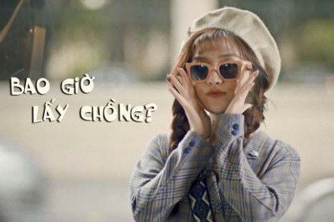 """Cuoi ngat """"gai e"""" Bich Phuong trong MV moi toanh """"Bao gio lay chong?"""""""