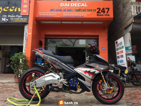 Exciter 150 ban do ' Khung ' voi bo gap BMW S1000RR