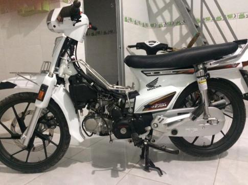 Honda Dream chim trang mo coi noi Cai Be