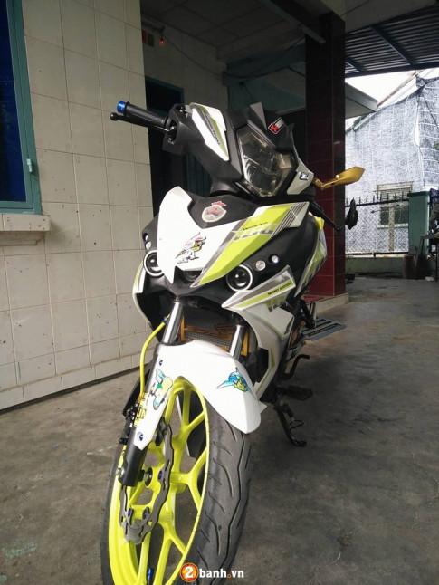 Honda Winner 150 ban do choi loa voi mau vang Neon