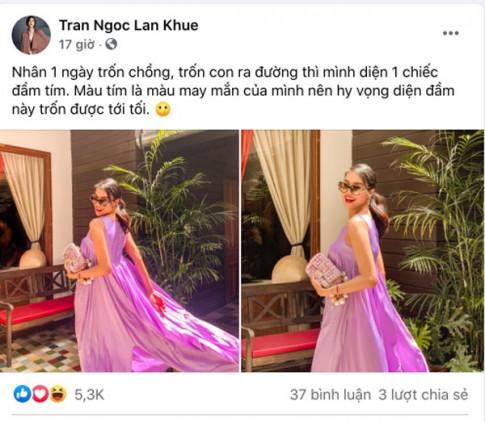 Tron chong tron con di choi, Lan Khue len do sang chanh khong ai do kip