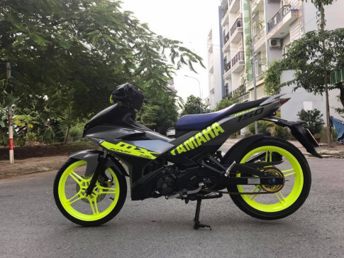Yamaha Exciter 150 nhe nhang tao an tuong voi bo ao xanh Luminer