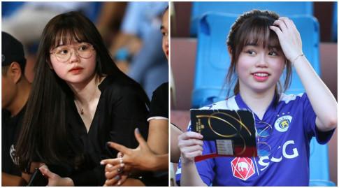 Cung ra san bong co vu: ban gai Quang Hai cham makeup, vo Cong Phuong che mat van xinh