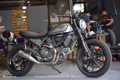 Ducati Scrambler 'chien binh hoai co' lot xac day an tuong tu Mugello