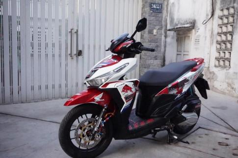 Honda Click 125i day dang cap voi phien ban Redbull Racing