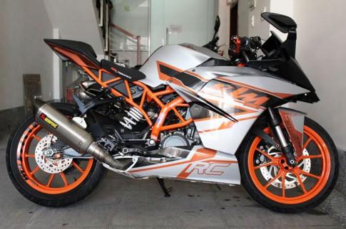 KTM RC 390 độ pô Akrapovic và mang nhiều chi tiết đẹp mắt