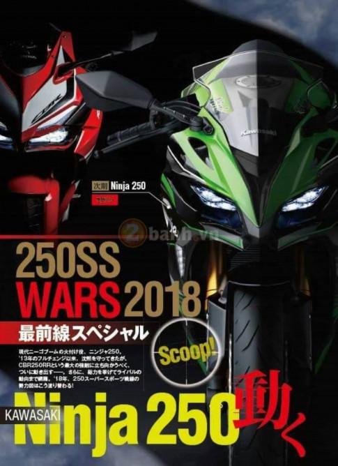 Lo Kawasaki Ninja 250R 2018 duoc nang cap dong co