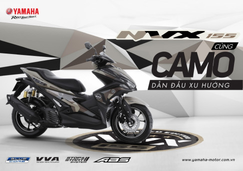 Yamaha NVX 155 Camo chinh thuc duoc ra mat voi gia tu 52.690.000 Dong