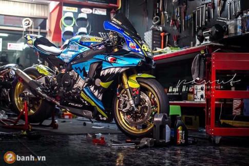 Yamaha R1M lot xac sieu doc trong phien ban ' Ca Map Bien Xanh '