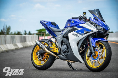 Yamaha R3 do day an tuong trong phien ban Blood R-Series