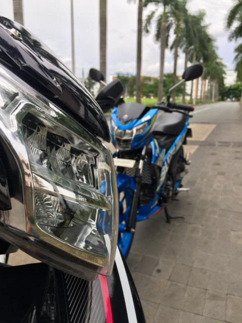 Exciter 135 do phong cach Lc 135 khoe dang cung Raider Fi
