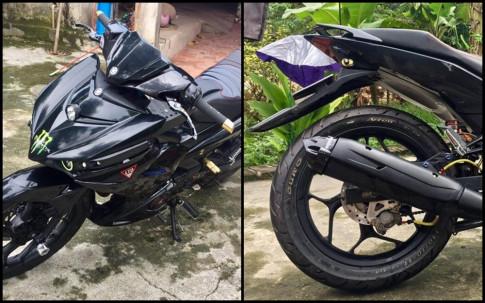 Exciter 150 do ngau nhu sieu xe Batman cua biker Thai Nguyen