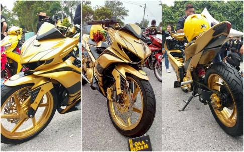 Exciter 2010 do an tuong voi xe sieu nhan ' Vang ' cua biker nuoc ban