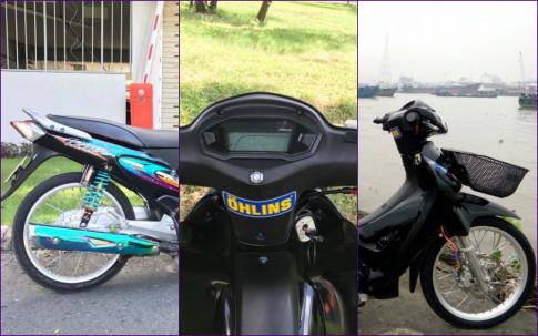 Future 125 do an than trong phien ban Wave 125i cua biker nuoc ban