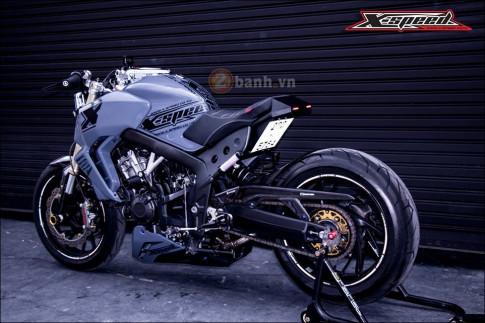 Honda CB650F do lot xac hoan thien cung phong cach Cafe Racer