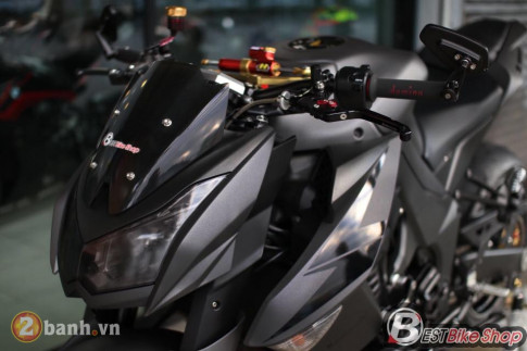 Kawasaki Z1000 day sac ben trong phien ban Matte Black