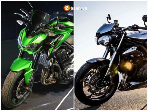 So sanh thong so ky thuat giua Kawasaki Z900 vs Triumph Street Triple RS
