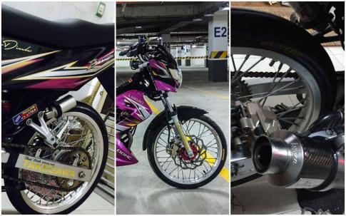 Suzuki Raider 150 do kieng cuc ngau cua biker Sai Gon