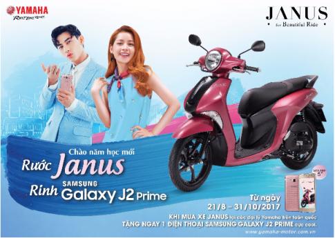 Tặng ngay Samsung Galaxy J2 Prime khi mua Yamaha Janus