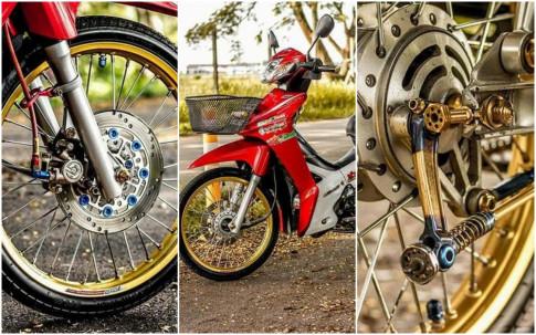 Wave 110i do kieng tao an tuong voi doi chan mong manh cua biker Thailand
