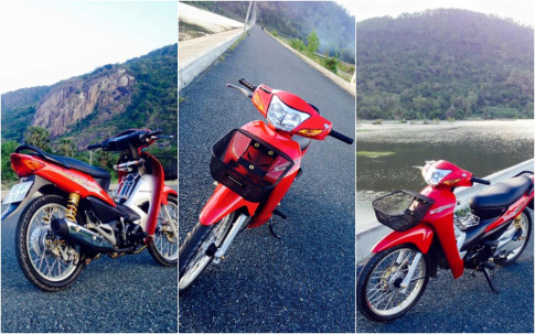 Wave Alpha do kieng leng keng cua biker Kien Giang