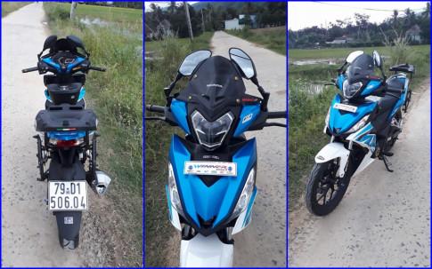 Winner 150 do phong cach Touring cuc chat cua biker Khanh Hoa