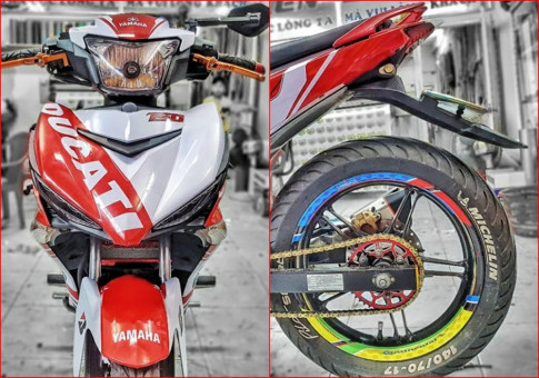 Yamaha Exciter 150 do kieng nhe nhang voi bo canh Ducati