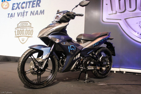 Yamaha Exciter 150 thong linh thi truong xe con tay Viet Nam trong nam 2017