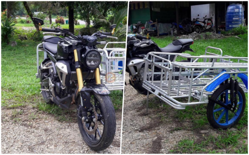 Bat ngo xuat hien Honda CB150R Exmotion dung de cho hang