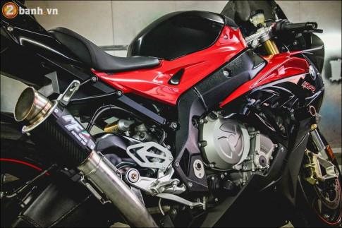 BMW S1000RR độ sống động qua clip âm thanh ống xả MF muffer Carbon
