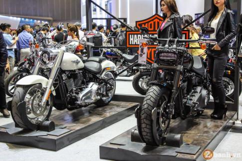 Cặp đôi Harley-Davidson Softail Fat Bob-Fat Boy được giới thiệu tại VIMS 2017