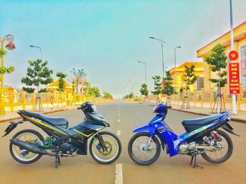 Cap doi nha Yamaha do kieng don gian day an tuong cua biker Binh Phuoc