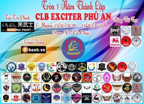 Club Exciter Phu An mung sinh nhat lan I day hoanh trang tai Binh Duong