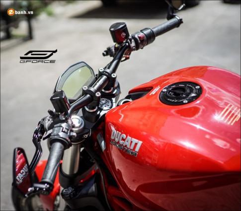 Ducati Monster 821 'cuong hoa' thanh cong qua dan chan sieu nhe