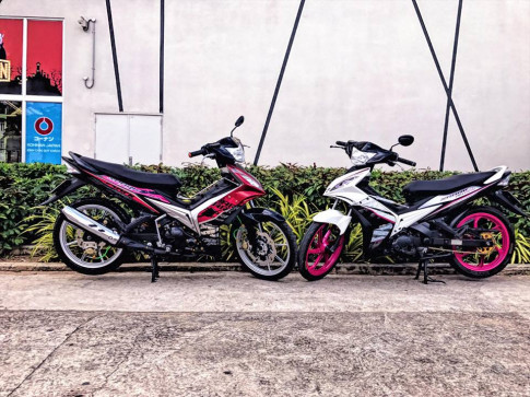 Exciter 135 do dam chat choi cua Biker Quang Ngai