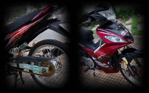 Exciter 135 do full phong cach Spark la mat