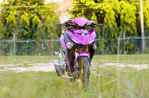 Exciter 150 độ chất với bộ cánh tím mộng mơ của biker Bình Dương