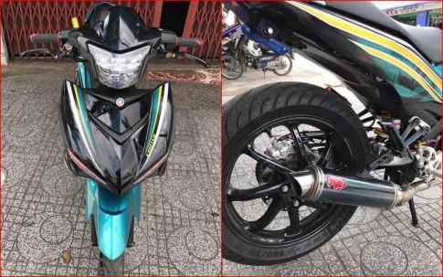 Exciter 150 độ dàn chân đầy cơ bắp với gắp NSR của biker Việt