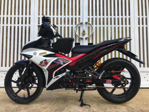 Exciter 150 do dan chan day tam huyet cua biker pho nui Gia Lai